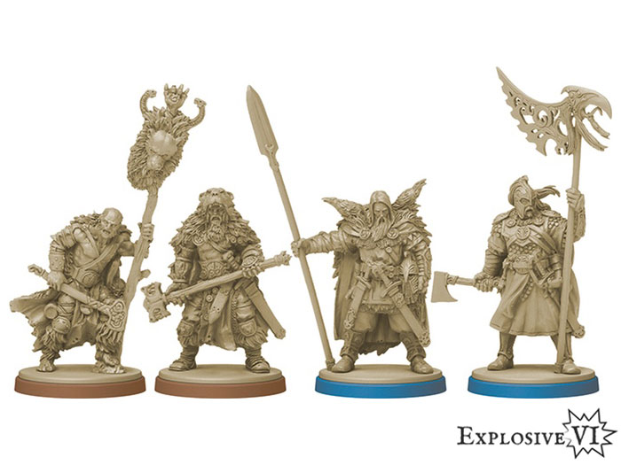 Blood Rage Bear and Raven Clan Miniatures