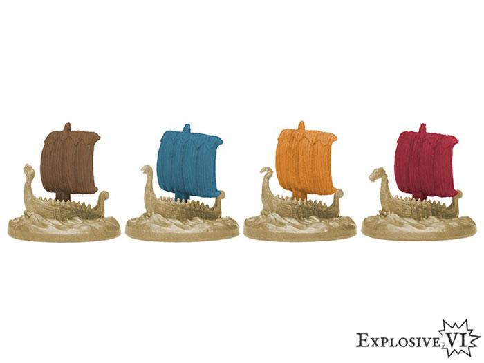 Blood Rage Clan Dragon Ship Miniatures