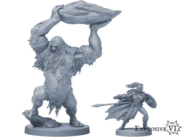 Blood Rage Frost Giant and Valkyrie Miniatures