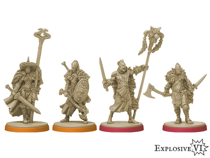 Blood Rage Serpent and Wolf Clan Miniatures