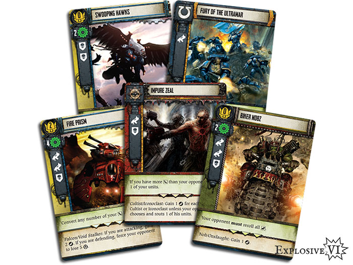 Forbidden Stars Combat Cards