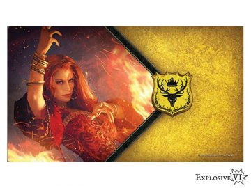 Game of Thrones House Baratheon Red Woman Playmat