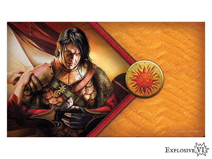 Game of Thrones House Martell Red Viper Playmat