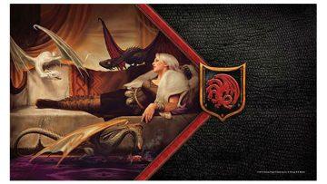 Game of Thrones House Targaryen Mother of Dragons Playmat