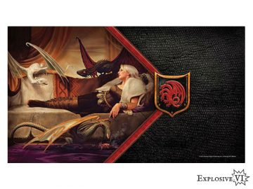 Game of Thrones House Targaryen Mother of Dragons Playmat