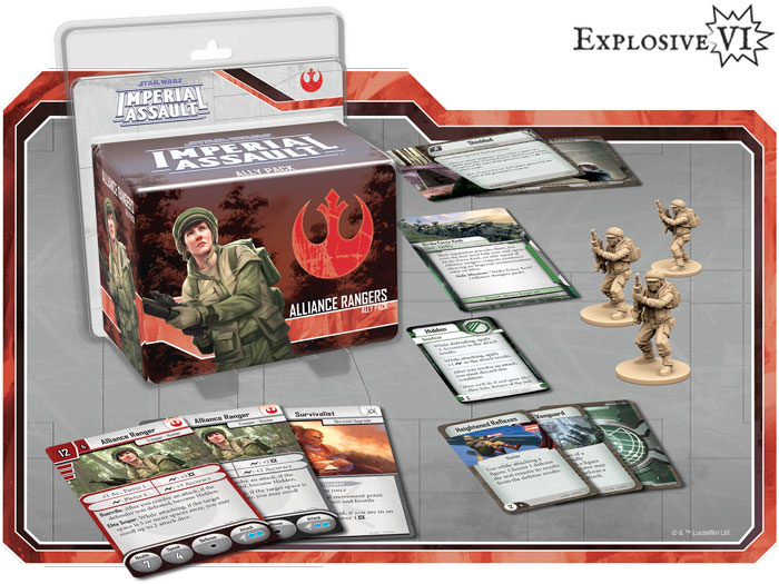 Imperial Assault Alliance Rangers Ally Pack