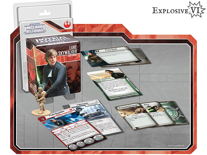 Imperial Assault Luke Skywalker Jedi Knight Ally Pack