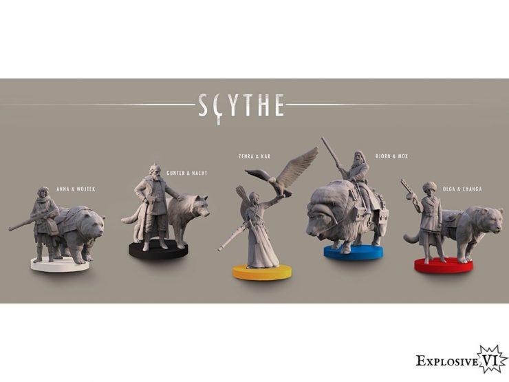 Scythe BoardGame Character Miniatures