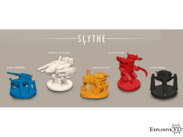 Scythe Board Game Mech Miniatures