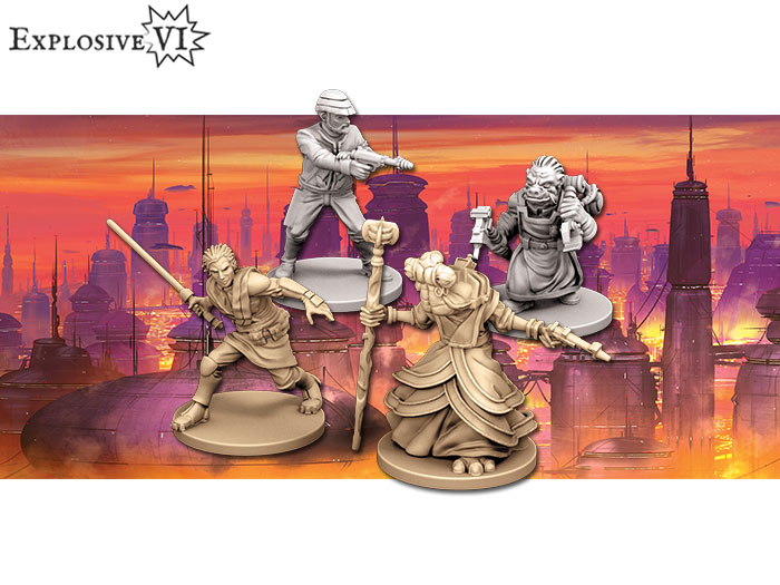 Star Wars Imperial Assault Bespin Gambit Miniatures