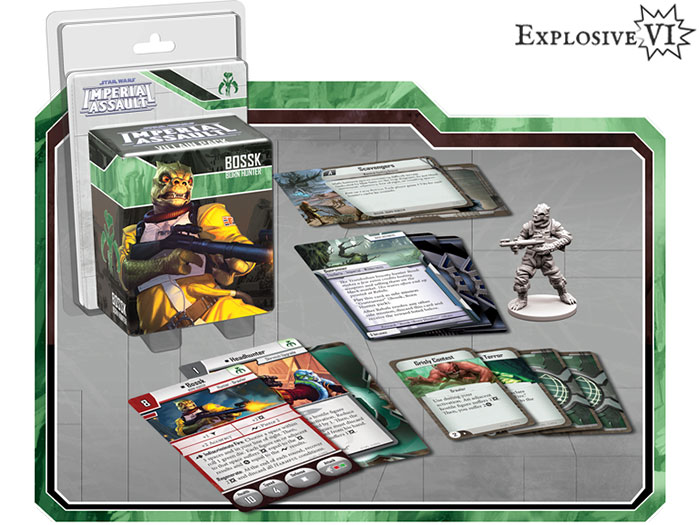 Star Wars Imperial Assault Bossk Villain Pack Expansion