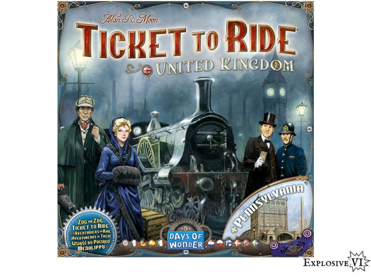 Ticket To Ride United Kingdom UK Pennsylvania Map Collection 5