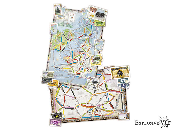 Ticket To Ride United Kingdom UK Pennsylvania Map Collection 5 board